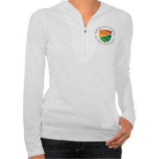 Ladies' ½ zip hoodie with round logo