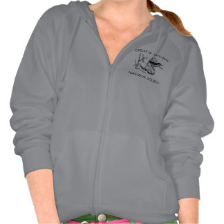 Ladies Zip-Up Light Colored Sweat Shirt