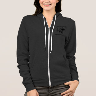 Ladies Zip-Up Light Colored Sweat Shirt