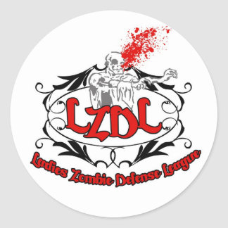 Ladies Zombie Defense League 3 inch stickers