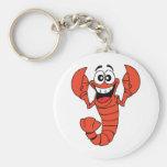 Ladlow the Lobster Basic Round Button Keychain