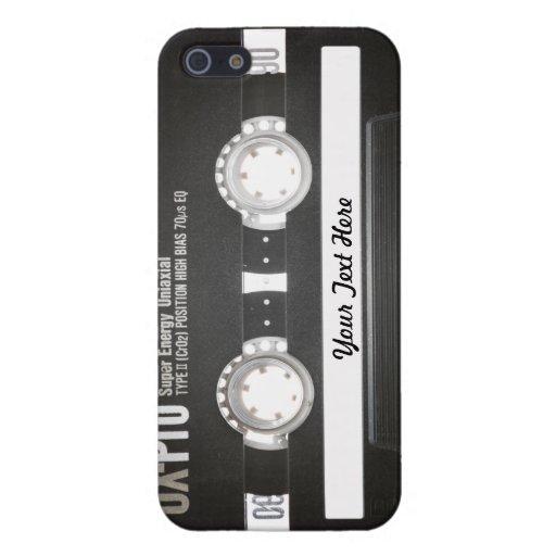 lado b de la cinta de la mezcla del vintage 80s iPhone 5 carcasas