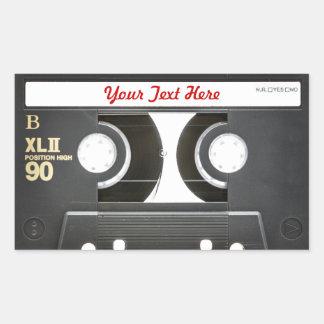 lado b de la cinta de la mezcla del vintage 80s pegatina rectangular