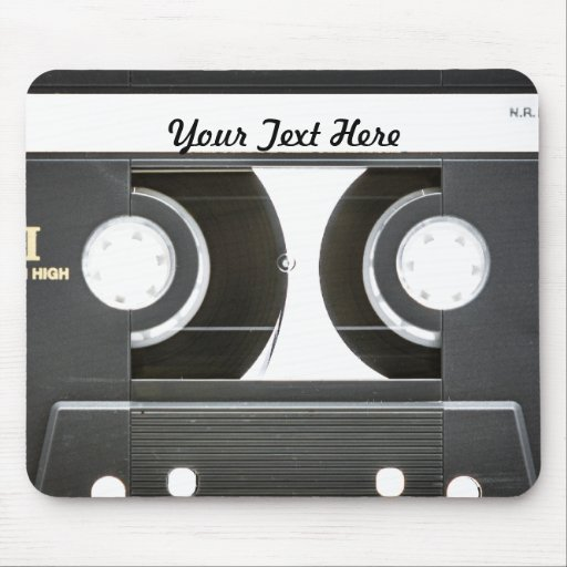 lado b de la cinta de la mezcla del vintage 80s alfombrilla de ratones