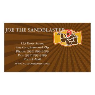Lado de la manguera del chorreo de arena de la cho tarjetas de visita