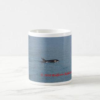 Lado de la orca, taza básica blanca