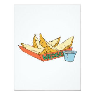 lado de las cuñas de la patata invitación 10,8 x 13,9 cm