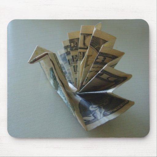 Lado de Origami Turquía del dinero Alfombrilla De Ratones