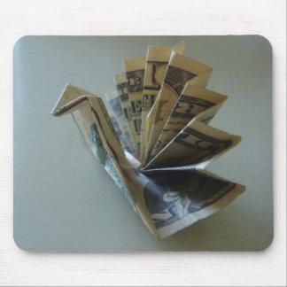 Lado de Origami Turquía del dinero Alfombrillas De Ratones
