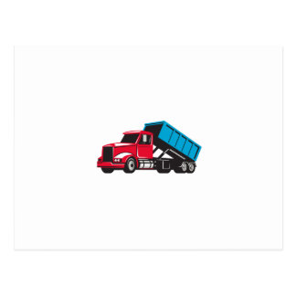 Lado del camión de la descarga rodada encima de tarjeta postal