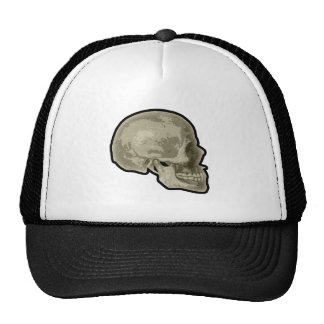 Lado del cráneo gorro de camionero