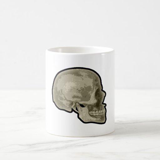 Lado del cráneo taza
