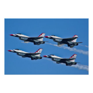 Lado del diamante de los Thunderbirds del U.S.A.F. Póster