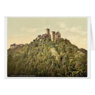 Lado del sudoeste, Wartburg, Thuringia, Alemania r Felicitaciones