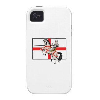 Lado inglés de la bandera de Inglaterra del caball Case-Mate iPhone 4 Fundas