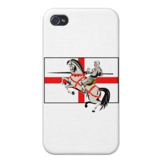 Lado inglés de la bandera de Inglaterra del caball iPhone 4 Cárcasa