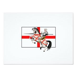 Lado inglés de la bandera de Inglaterra del Invitación 16,5 X 22,2 Cm