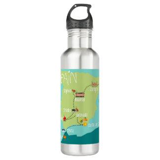 Lado izquierdo a la botella de agua de España 2