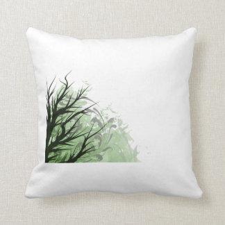 Lado izquierdo floral verde del árbol cojin