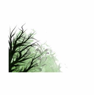 Lado izquierdo floral verde del árbol esculturas fotograficas