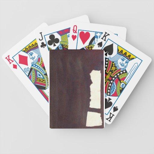 lado izquierdo pesado, palillo del partido baraja de cartas