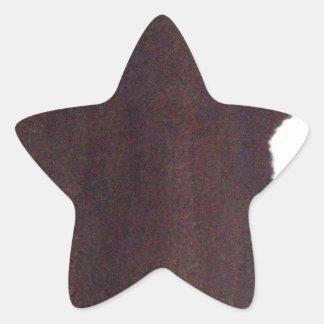 lado izquierdo pesado, palillo del partido pegatina en forma de estrella