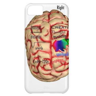 Lado izquierdo y derecho del cerebro carcasa iPhone 5C