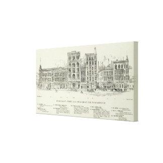 Lado norte Grant y Stockton de O'Farrell Impresión De Lienzo