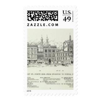 Lado norte Stockton y Powell del poste Sellos Postales