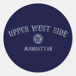 Lado oeste superior etiquetas