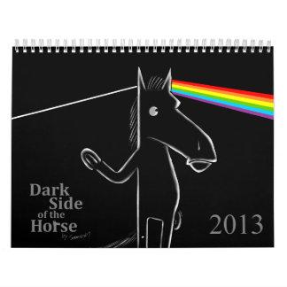 Lado oscuro 2013 del calendario de pared del cabal