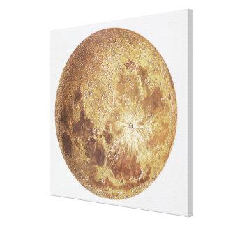 Lado oscuro de la luna, ejemplo impresión en lienzo