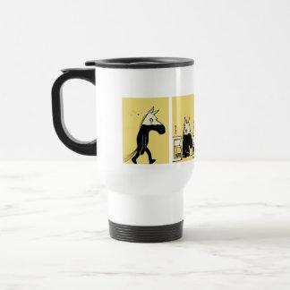 Lado oscuro de la taza 1 del viaje del caballo