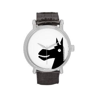 Lado oscuro del reloj del caballo