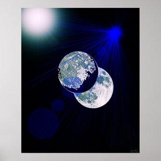 """""""Lado oscuro poster de la luna"""""""