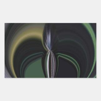 Lado positivo femenino de la aurora de los regalos rectangular pegatina