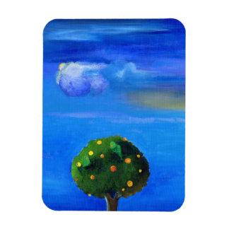Lado positivo sobre el árbol anaranjado 2012 imanes de vinilo