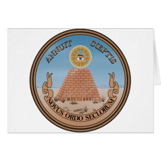 Lado (reverso) del anverso del gran sello de los tarjeta de felicitación