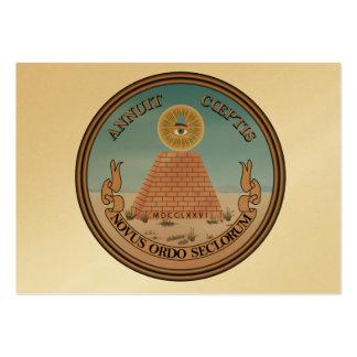 Lado (reverso) del anverso del gran sello de los tarjetas de visita grandes