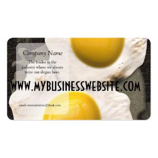 Lado soleado encima de los huevos plantilla de tarjeta de negocio