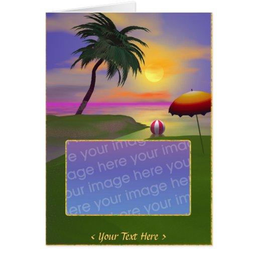 Lado soleado tarjeta de felicitación