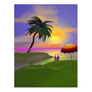 Lado soleado tarjetas postales