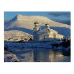 Lado sur ruso de la iglesia ortodoxa, Unalaska Isl Tarjeta Postal