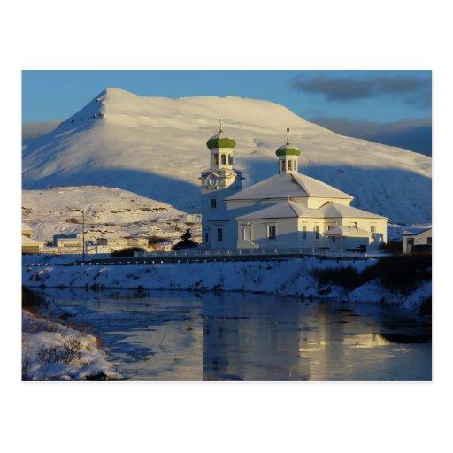 Lado sur ruso de la iglesia ortodoxa, Unalaska Tarjetas Postales