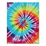 Lados del espiral 2 del arco iris invitación 10,8 x 13,9 cm