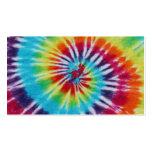 Lados del espiral 2 del arco iris plantillas de tarjetas de visita