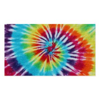 Lados del espiral 2 del arco iris tarjetas de visita