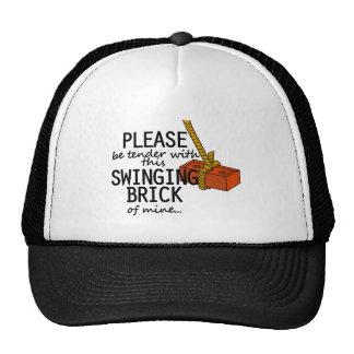 Ladrillo de balanceo gorras de camionero