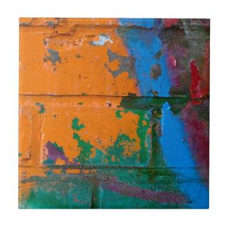 Ladrillo de la pintada azulejo cuadrado pequeño