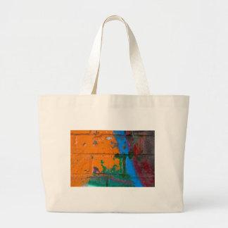 Ladrillo de la pintada bolsa lienzo